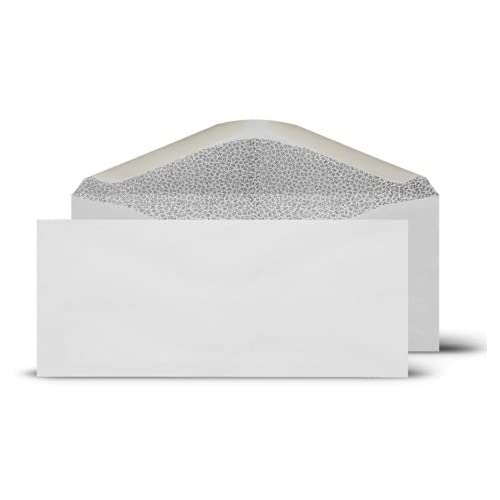 # 9 Regular 3-7/8x8-7/8-Inch White Envelopes-Security Tinted-100 Count