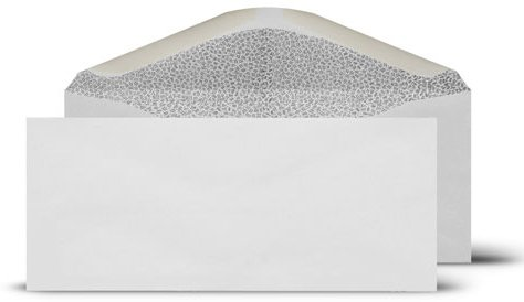 (# 9 Envelope Standard No Window 3-7/8x8-7/8-Inch White Return Envelopes-Security Tinted-100 Count)
