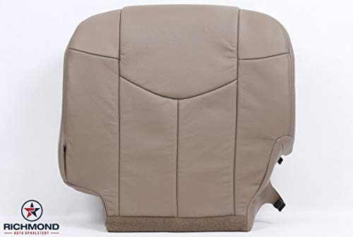 - Richmond Auto Upholstery 2002 Chevy Avalanche Truck LT Z71 Z66 - Driver Side Bottom Replacement Genuine Leather Seat Cover, Tan