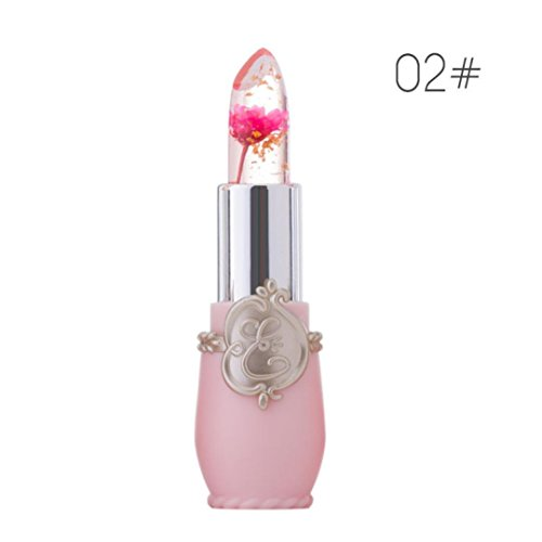 Alonea Bright Flower Crystal Jelly Lipstick Magic Temperature Change Color Lip (02#) 02 Flower