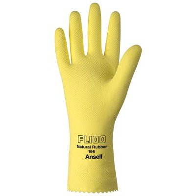 Unsupported Latex Gloves - 185750 8 lght dty nat latex-unsupported lined [Set of 12]