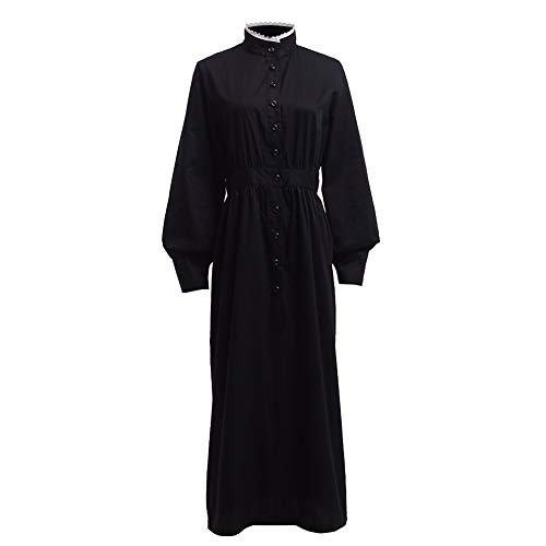 GRACEART Pioneer Women Costume Prairie Dress Black (Pure Cotton) -