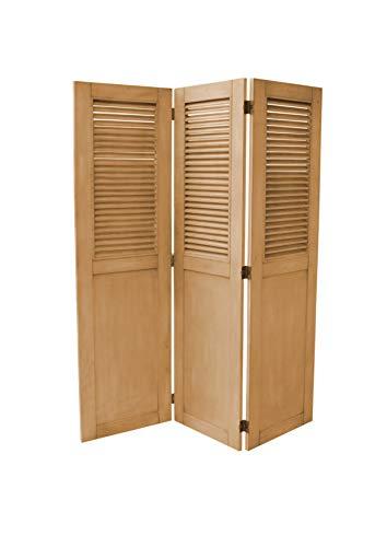 81-0254 Vintage Casual Wood Room Divider Plantation Maple ()
