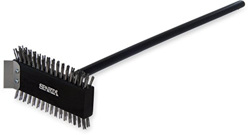 (Carlisle 4029000 Ultimate Broiler Master Grill Brush with Stainless Steel Bristles and Scraper, 30.5