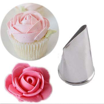 Stainless Steel Icing Piping Nozzles Cup Cake Fondant Cake Decorating Pastry Tool - Bakeware & Accessories Cream Piping Tools - 1 X 600ml Heat Resistant Glass Flower Tea Pot]()