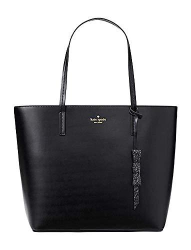 (Kate Spade Seton Drive Karla Smooth Leather Tote Shoulder Bag Purse Handbag (Black), Medium)