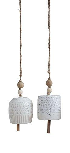 Ceramic Bell Ornament - Creative Co-op 3-1/2