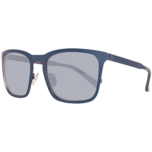 Guess GU 6880 91C 56mm Matte Blue / Smoke Mirror - Prescription Sunglasses Guess