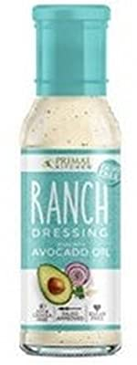 Primal Kitchen Dressing Ranch Avocado Oil, 8 Fl Oz (Pack of 6)