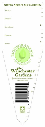 9 Vegetable Markers and 9 Herb Markers Winchester Gardens Assorted Biodegradable Veggie and Herb Markers 18 Markers