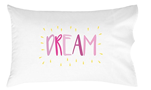 Oh, Susannah Dream Kids Pillowcase PINK YELLOW - Fun Toddler Pillow Case (1 20x30 Inch Pillowcase)