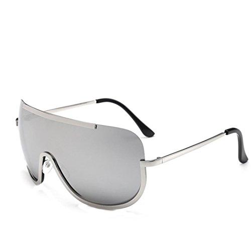Retro Integradas de Gris Espejo Sol Gafas Sol Mujer Vintage Aviador Gafas de logobeing W7vABA