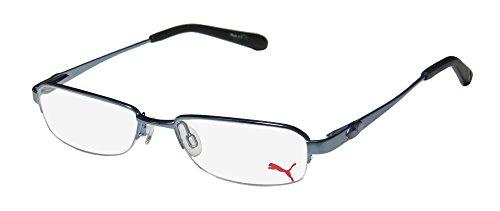 Puma 15364 Giga Mens/Womens Designer Half-rim Spring Hinges Eyeglasses/Spectacles (47-16-135, - Half Rim Spectacles