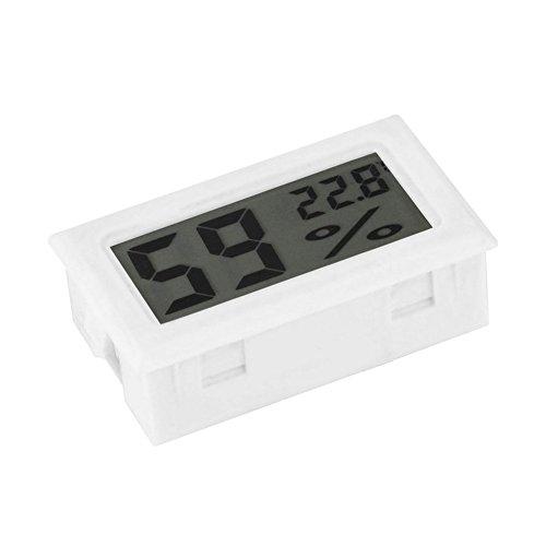 SUKRAGRAHA Mini Digital Temperature Humidity Meter Gauge Thermometer Hygrometer LCD Degree Celsius (C) Display White