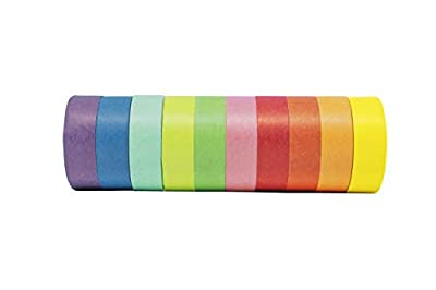 PackU Washi Tape, Set of 10 Solid Pastel Colors Rolls from PackU