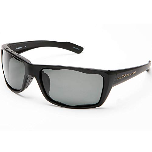 Native Eyewear Wazee Sunglasses, Gray Lens/Matte Black Frame -