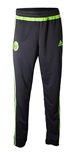 Adidas Mexico Soccer Training Pant (Black, Semi-Solar Green) Sz. X-Large