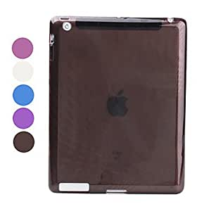 AES - Raindrop Patterned Translucent TPU Case for iPad 3 & iPad 4 (Assorted Colors) , White