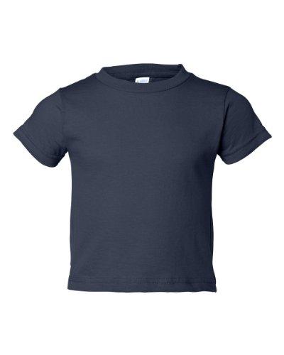 Rabbit Skins Toddler Cotton T-Shirt - Navy - 4T