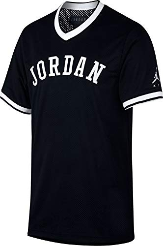 Jordan Sportswear Jumpman Men's Mesh Jersey - AR0028 (X-Large, Black/White)