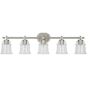 Allen roth 3 light winsbrell brushed nickel bathroom vanity allen roth winsbrell 5 light 925 in brushed nickel bell vanity light aloadofball Image collections