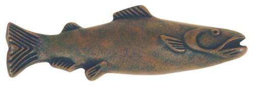 Atlas Homewares 2217-R 4-Inch Fish Pull, Rust
