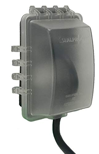 Sealproof 1-Gang Weatherproof In Use Outlet Cover | One Gang Outdoor Plug and Receptacle Protector, Lockable, UL Extra Duty Compliant, 18 Configurations ()