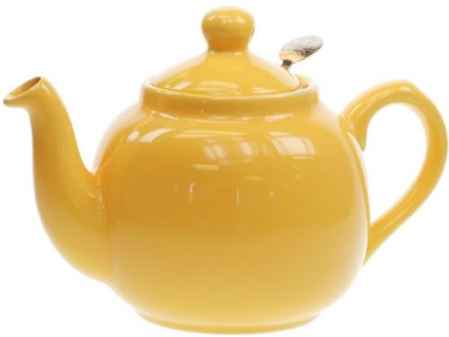 Globe London Pottery 2 Cup Yellow Filter Teapot 17272122