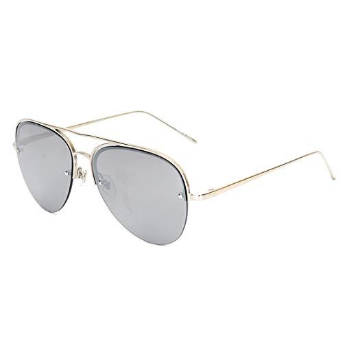 de del de Yellow 100 Gold de Silver del de Sol Sakuldes la Frame Frame Las Gafas Puerta Lens señoras la los UV400 de Metal Lente Silver polarizadas Color Marco Lens Hombres de 7Fq6qc0w