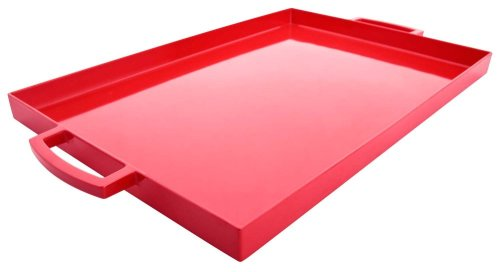 Zak Designs Pop 17 by 11-1/2-Ounce Large Rectangular Tray, Red (Designs Pop Zak)