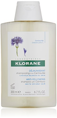 (Klorane Anti -Yellowing Shampoo with Centaury for Blonde, White, Silver, Pastel Hair with Natural Blue Pigments, 6.7 oz.)