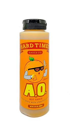 (Hard Times Sauce A.O Agent Orange Hot Sauce )