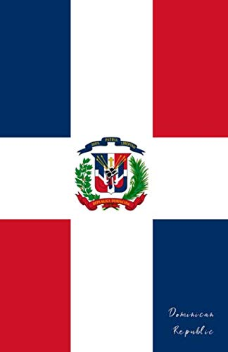 Dominican Republic: Flag Notebook, Travel Journal to write in, College Ruled Journey Diary