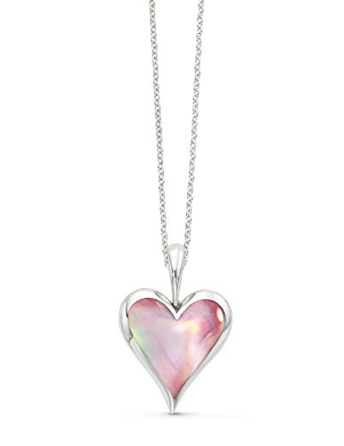 Kabana Pink Mother of Pearl Heart Sterling Silver Pendant