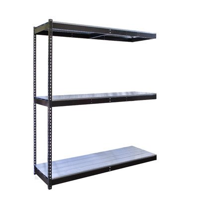 Rivetwell Double Rivet Boltless Knock-Down 3 Shelf Shelving Unit Add-on Size: 72