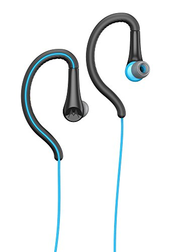 Motorola Earbuds, Sport Water Resistant In-Ear Headphones - Blue (SH008 BL) (Motorola In Ear Earphones)