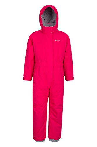 Mountain Warehouse Cloud All in 1 Kids Snowsuit - Waterproof Rainsuit Pink 7-8 Years