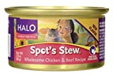 Halo, Purely For Pets Spot's Stew for Cats – Wholesome Chicken & Beef Recipe 3 oz (85 g) Can
