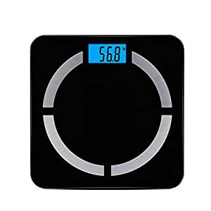 WXYXG Electronic Scale,Smart Body Fat Scale -21 Essential Body Composition Analyser, Auto Recognition, Track & Record Data Up Via Android & iOS App (Color : Black)
