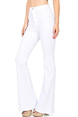 Skinny Wide Leg Jeans - Abninigee Womens Juniors Bell Bottom Jeans High Waisted Skinny Wide Leg Flare Denim Pants