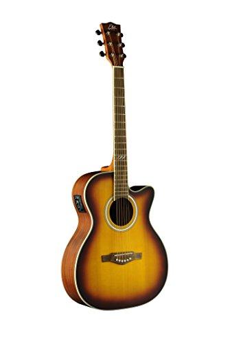 EKO Guitars 06217106 TRI Series Auditorium Cutaway Acoustic-Electric Guitar - Honey Burst (Electric Honey Acoustic Guitar)