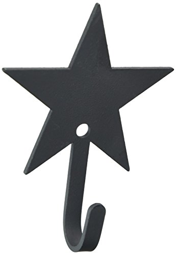 Village Wrought Iron 3.5 Inch Star Wall Hook Extra (Iron Star Hook)