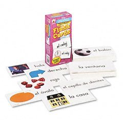CARSON-DELLOSA Everyday Words In Spanish Flash Cards, Photographic, 3 x6, 104 Cards (Case of 12)
