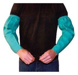 Radnor Sleeves 9Oz 18'' Green Flame Retardant Cotton Elastic At Topsnaps At Wrist -1 Case of 72 Pair