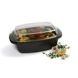 Norpro 6 Quart Nonstick Roaster with Glass Serving Lid