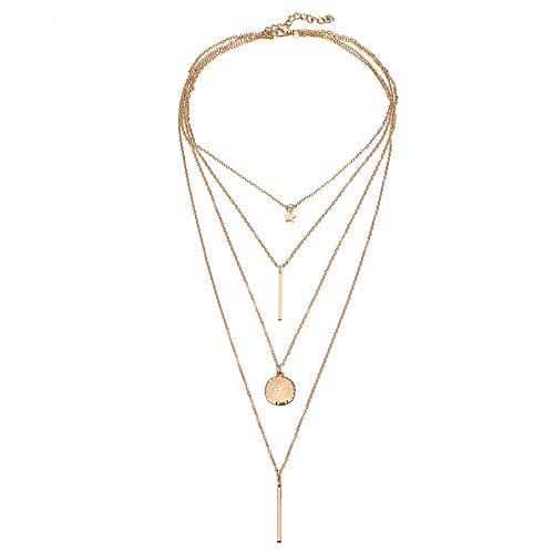 Jewels Galaxy Stylish Multi Layered Gold Plated Stunning Necklace for Women/Girls