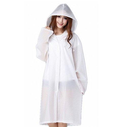 Thick Waterproof Jacket Hooded Poncho Raincoat Rain Cape Colorful Edge Height:5''6'