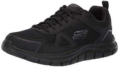 Skechers Mens Track Scloric Black Size: 6.5 Wide
