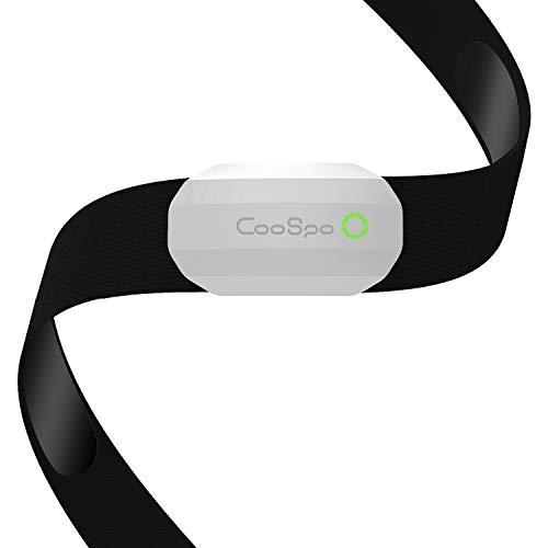 CooSpo Fitness Tracker Ant+ Heart Rate Monitor Chest Strap IP67 Waterproof with Bluetooth for Wahoo Polar Beaat Zwift DDP Yoga Map My Ride Peloton Bike