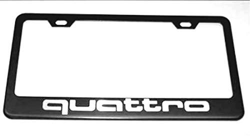 quattro black license plate frame - 2